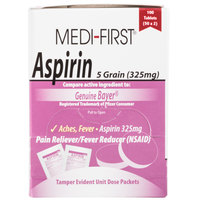 Medi-First 80533 Aspirin Tablets - 100 / Box