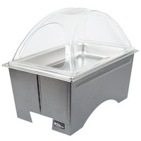 Sterno Products Full Size Silver Vein Knock Down Chafer with Clear Dome Cover
