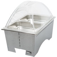 Sterno Products Silver Vein Knock Down Chafer with Clear Dome Cover and 2 Half Size Pans