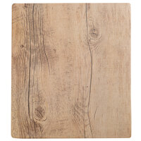 GET SB-1210-OW Granville 12 inch x 10 inch Melamine Faux Oak Wood Display - 6 / Case