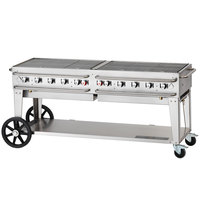 Crown Verity RCB-72-SI-LP 72 inch Pro Series Outdoor Rental Grill with Single Gas Connection