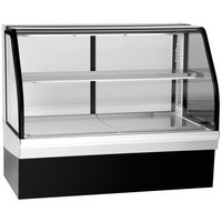 Federal Industries ECGR-59CD Elements 59 inch Curved Glass Refrigerated Deli Display Case - 15.29 Cu. Ft.