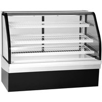 Federal Industries ECGD-50 Elements 50 inch Curved Glass Dry Bakery Display Case - 18.39 Cu. Ft.
