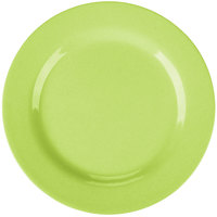 GET SZRP003G BambooServe 8 inch Round Bamboo Green Wide Rim Plate   - 12/Case