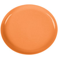 GET SZIP001O BambooServe 11 1/2 inch x 10 1/4 inch Oval Bamboo Orange Incline Plate - 12/Case