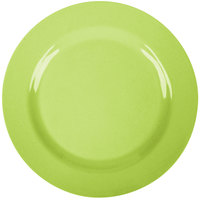 GET SZRP016G BambooServe 11 inch Round Bamboo Green Wide Rim Plate - 12/Case