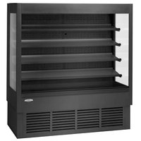 Federal Industries ERSSHP-678SC Elements Black 72 inch High Profile Air Curtain Merchandiser - 35.4 Cu. Ft.
