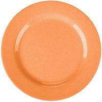 GET SZRP003O BambooServe 8 inch Round Bamboo Orange Wide Rim Plate - 12/Case