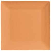 GET SZSP001O BambooServe 9 inch Square Bamboo Wide Rim Orange Plate - 12/Case