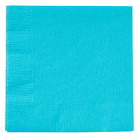 Creative Converting 801039B Bermuda Blue 2-Ply Beverage Napkin - 50/Pack