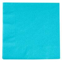 Creative Converting 801039B Bermuda Blue 2-Ply Beverage Napkin   - 50/Pack