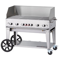 Crown Verity MCB-48WGP 48 inch Mobile Outdoor Grill with Wind Guard Package