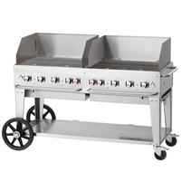Crown Verity MCB-60WGP 60 inch Mobile Outdoor Grill with Wind Guard Package