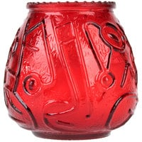 Sterno Products 40128 4 1/8 inch Red Venetian Candle - 12 / Pack