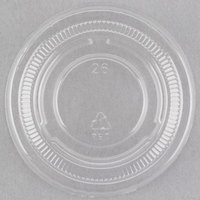 Choice PET Plastic Lid for 0.5 to 1.25 oz. Souffle Cup / Portion Cup   - 2500/Case