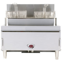Wells GF-30 Natural Gas 30 lb. Gas Countertop Fryer - 70,000 BTU