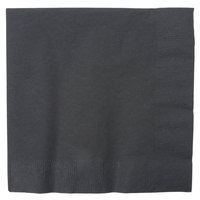Creative Converting 139194135 Black Velvet 2-Ply 1/4 Fold Luncheon Napkin   - 50/Pack