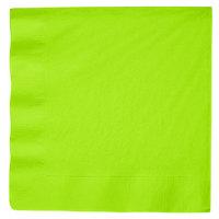 Creative Converting 593123B Fresh Lime Green 3-Ply Paper Dinner Napkin - 25/Pack
