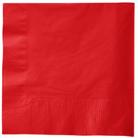 Creative Converting 581031B Classic Red 3-Ply 1/4 Fold Luncheon Napkin - 50/Pack