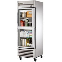 True T-23G-2 Single Section Glass Half Door Reach In Refrigerator