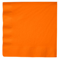 Creative Converting 59191B Sunkissed Orange 3-Ply Paper Dinner Napkin - 25/Pack