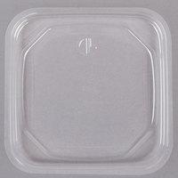 D&W Fine Pack SDIFPLAC1 FreshServe Square PLA Biodegradable / Compostable Clear Plastic Deli Container Lid - 1500/Case