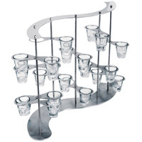 Eastern Tabletop 1724 24-Piece Stainless Steel Serpentine Floating Mini Serving Display