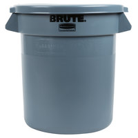 Rubbermaid BRUTE 10 Gallon Gray Trash Can and Lid