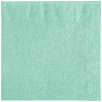 Creative Converting 318891 Fresh Mint Green 2-Ply Beverage Napkin   - 50/Pack