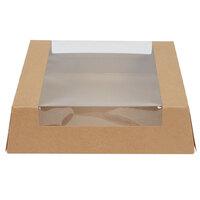 9 inch x 9 inch x 2 1/2 inch Kraft Auto-Popup Window Pie / Bakery Box - 100/Case