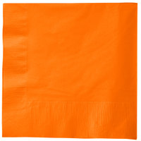 Creative Converting 58191B Sunkissed Orange 3-Ply 1/4 Fold Luncheon Napkin - 50/Pack