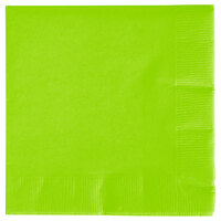 Creative Converting 573123B Fresh Lime Green 3-Ply Beverage Napkin - 50/Pack