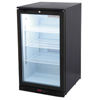 Beverage-Air CT96-1-B-LED Black Countertop Display Refrigerator with Swing Door - 6.8 cu. ft.