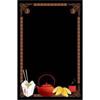Rainbow Sign Mfg. RMV-2436-CF 24 inch x 36 inch Black Marker Board with Chinese Graphic