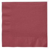 Creative Converting 663122B Burgundy 2-Ply 1/4 Fold Luncheon Napkin   - 50/Pack