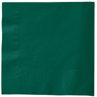 Creative Converting 583124B Hunter Green 3-Ply 1/4 Fold Luncheon Napkin - 50/Pack
