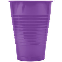 Creative Converting 318921 12 oz. Amethyst Purple Plastic Cup - 20/Pack