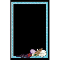 Rainbow Sign Mfg. RMV-2436-MDF 24 inch x 36 inch Black Marker Board with Mediterranean Graphic