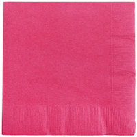 Creative Converting 57177B Hot Magenta Pink 3-Ply Beverage Napkin   - 50/Pack