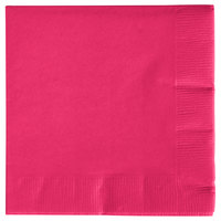 Creative Converting 57177B Hot Magenta 3-Ply Beverage Napkin - 50/Pack