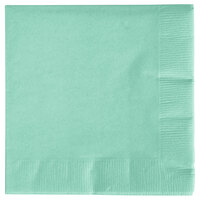 Creative Converting 318884 Fresh Mint Green 3-Ply Beverage Napkin - 50/Pack