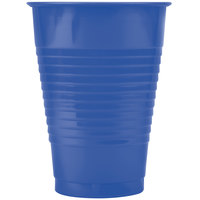 Creative Converting 28113771 12 oz. Navy Blue Plastic Cup - 20/Pack