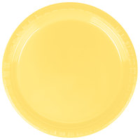 Creative Converting 28102011 7 inch Mimosa Yellow Plastic Plate - 20/Pack