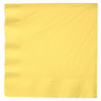 Creative Converting 59102B Mimosa Yellow 3-Ply Paper Dinner Napkin   - 25/Pack