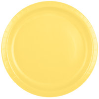 Creative Converting 50102B 10 inch Mimosa Yellow Paper Plate - 24/Pack
