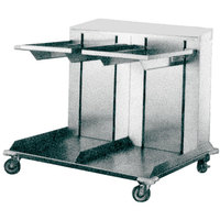 APW Wyott Lowerator CTRD-1622 Double Mobile Open Cantilever Tray Dispenser for 16 inch x 22 inch Trays