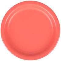 Creative Converting 793146B 7 inch Coral Orange Round Paper Plate - 24/Pack