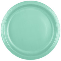 Creative Converting 318876 10 inch Fresh Mint Green Paper Plate - 24/Pack