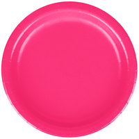 Creative Converting 79177B 7 inch Hot Magenta Pink Paper Plate - 24/Pack