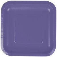 Creative Converting 453268 7 inch Purple Square Paper Plate - 18/Pack
